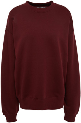 Victoria Victoria Beckham Monogram-trimmed Cotton-fleece Sweatshirt