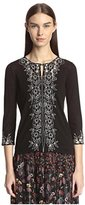 Anna Sui Women's Embroidered Cardigan