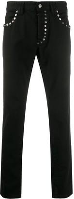 Just Cavalli Studded Straight Jeans