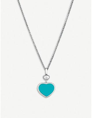 Chopard Happy Hearts 18ct white-gold and diamond pendant