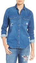 Joe's Jeans Women's Sloane Distressed Denim Shirt