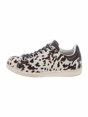 Etoile Isabel Marant Ponyhair Animal Print Sneakers Black