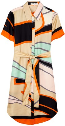Diane von Furstenberg Ari Printed Silk-twill Shirt Dress