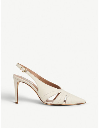 LK Bennett Helena cut-out leather courts