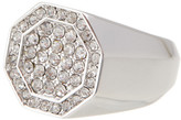 Louise et Cie Crystal Octagon Crystal Pinky Ring - Size 5