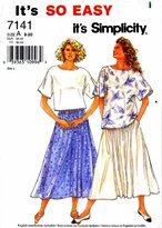 Simplicity 7141 Sewing Pattern Womens Tops and Skirt Size 8 - 20 Bust 31 1/2 - 42