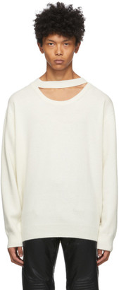 System Off-White Wool Cut-Out Sweater