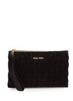 Miu Miu Quilted-velvet pouch