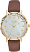 Kate Spade Women's Monterey Cognac Leather Strap Watch 38mm KSW1050