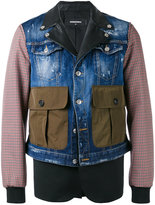 DSQUARED2 single breasted jacket - men - Cotton/Linen/Flax/Polyester/Virgin Wool - 48