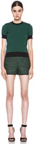M Missoni Woven Poly-Blend Shorts in Leaf