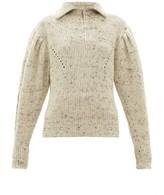Isabel Marant Kuma Puff-sleeve Wool Sweater - Womens - Ivory