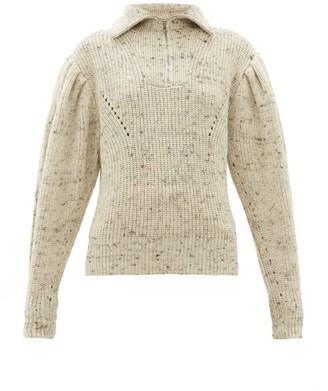 Isabel Marant Kuma Puff Sleeve Wool Sweater - Womens - Ivory