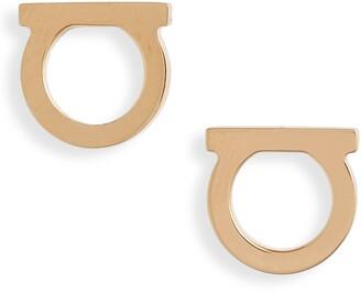 Salvatore Ferragamo Medium Gancio Stud Earrings