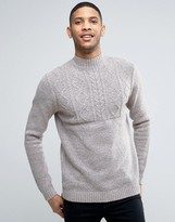 Asos Cable Jumper With Turtle Neck In Soft Yarn