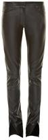 Loewe Mid-rise slit-hem leather trousers