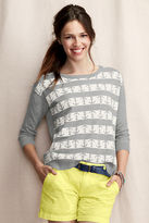 Lands' End Canvas Women's Intarsia Anchor Sweater
