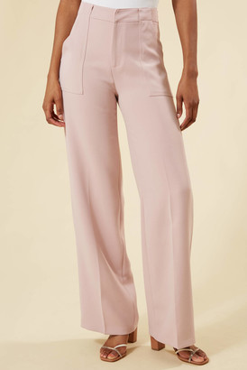 Lucy Paris Pink Diana Wide Leg Trouser Pink S
