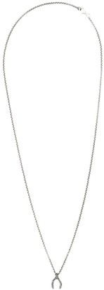 Rosa Maria 'Lucky' wish bone pendant necklace