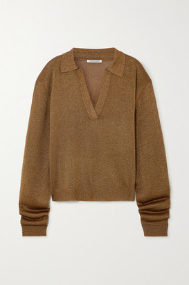 Georgia Alice Metallic Knitted Sweater - Light brown