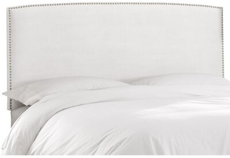 Skyline Furniture Mara Upholstered Panel Headboard Size: Twin, Upholstery: White