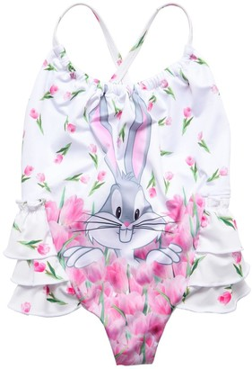 MonnaLisa Bugs Bunny Printed One Piece Swimsuit