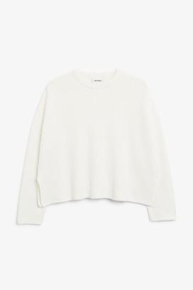 Monki Ribbed oversized sweater