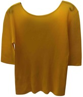 Pleats Please Yellow Polyester Tops