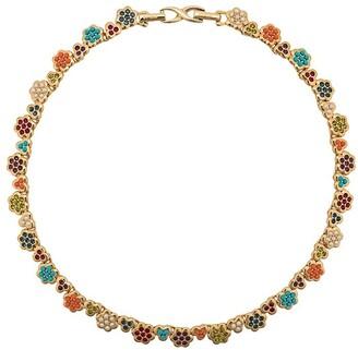 Susan Caplan Vintage 1980's D'Orlan flower necklace