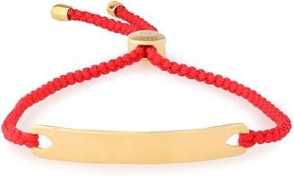 Monica Vinader Havana 18-karat Gold Vermeil And Braided Cord Bracelet