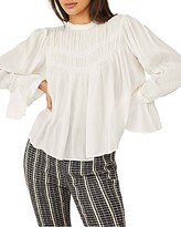 Thumbnail for your product : Free People Kelsey Pleated Bell Sleeve Top