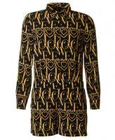 Love Moschino All Over Heart Monogram Playsuit