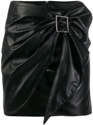 Pinko Draped Mini Skirt