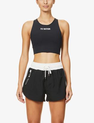 P.E Nation Cross Limits shell and organic-cotton shorts