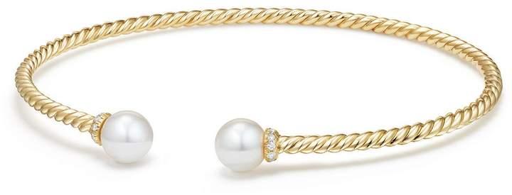 David Yurman Solari Pearl Bracelet with Diamonds in 18K Gold