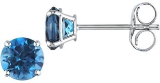 Sonatina 14K White Gold & London Blue Topaz Stud Earrings