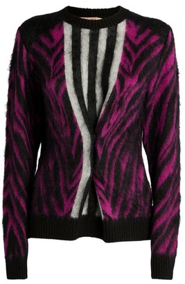 No.21 N21 Animal Print Knitted Sweater
