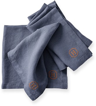 Mark And Graham Italian Washed Linen Dinner Napkins, Set of 4
