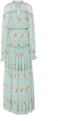 Jonathan Simkhai Cristina Printed Silk Maxi Dress