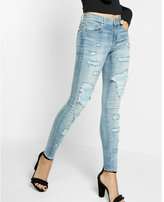 Express mid rise ripped EXP tech jean legging