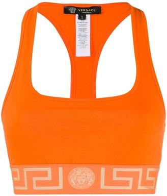 Versace Greek Key sports bra