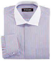 Stacy Adams Long Sleeve Woven Stripe Dress Shirt