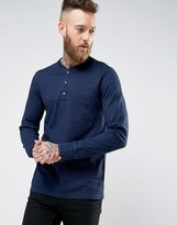 Levis Long Sleeved Bryant Henley Saturated Indigo