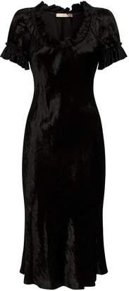 Brock Collection Velvet Ruffle Midi Dress