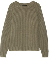 The Row Keyes Ribbed Wool And Cashmere-blend Sweater - Gray green