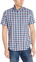 Nautica Men's Wrinkle Resistant Breeze Check Short Sleeve Shirt