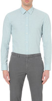 HUGO BOSS Leisure slim-fit cotton and linen-blend shirt