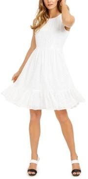 Calvin Klein Eyelet Tier-Hem Dress