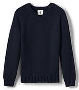 Lands' End Boys Drifter V-neck Pullover-Classic Navy