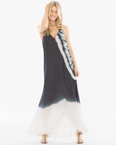 Soma Intimates Strappy Tie Dye Coverup Maxi Dress Black